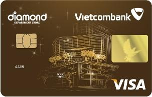 Thẻ tín dụng Vietcombank Diamond Plaza Visa