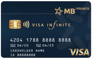 Thẻ tín dụng MB visa infinite
