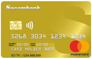 Thẻ tín dụng SACOMBANK mastercard cc