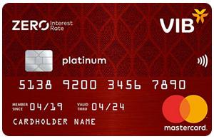 Thẻ tín dụng VIB zero interest