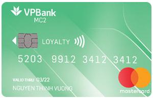 Thẻ tín dụng VPBank mastercard mc2