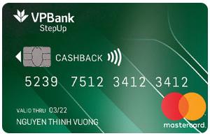 Thẻ tín dụng VPBank mastercard stepup